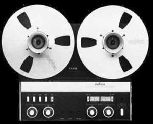 szalagos magnó reel mastering retro effekt