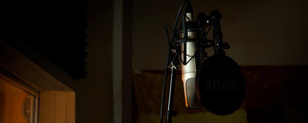 Hangstúdió hangrögzítés mikrofon